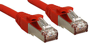 Cat.6 SSTP / S/FTP PIMF Premium Patchkabel, halogenfrei, rot, 1,0m