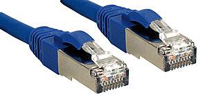 Cat.6 SSTP / S/FTP PIMF Premium Patchkabel, halogenfrei, blau, 0,3m