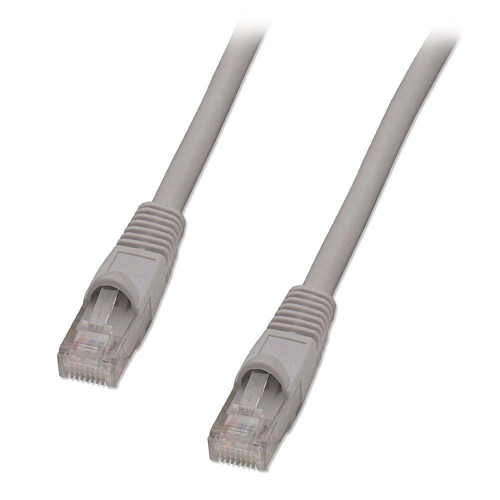 Cat.5e UTP Patchkabel, grau, 10m