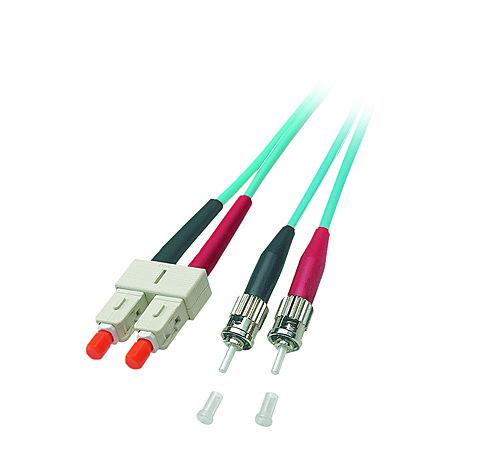 LWL Duplex Kabel ST/SC 50/125 �m Multimode OM3, 15m