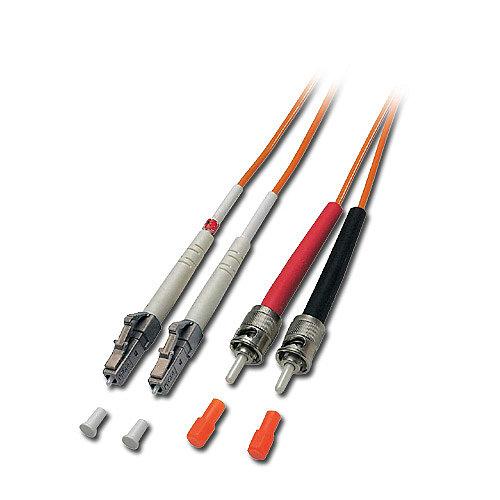 LWL-Duplex Kabel LC / ST-II 50/125 µm Multimode, 20m
