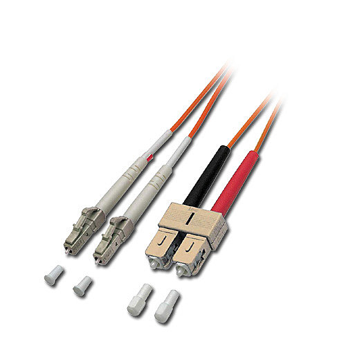 LWL-Duplex Kabel LC / SC 50/125 �m Multimode, 15m