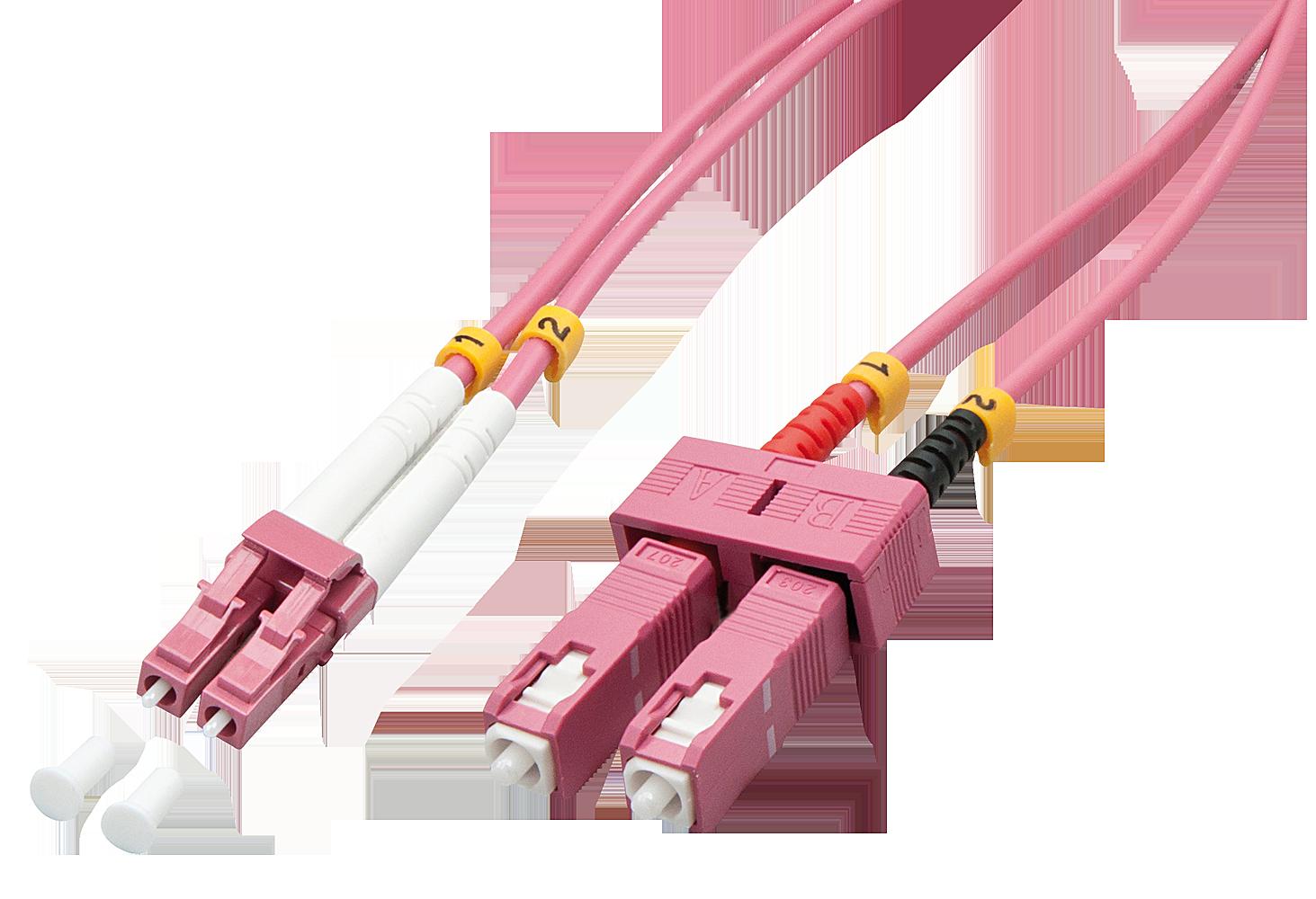 LWL-Duplexkabel LC/SC OM4 15m