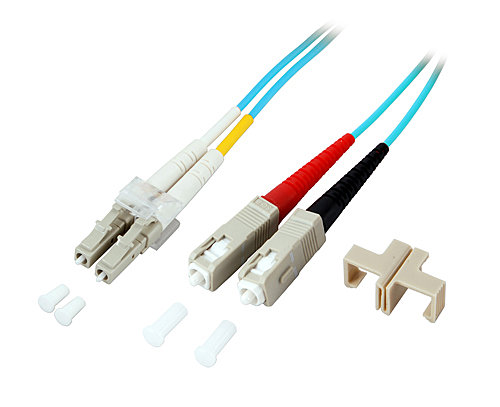 LWL-Duplex Kabel LC / SC 50/125 �m Multimode OM3, 3m