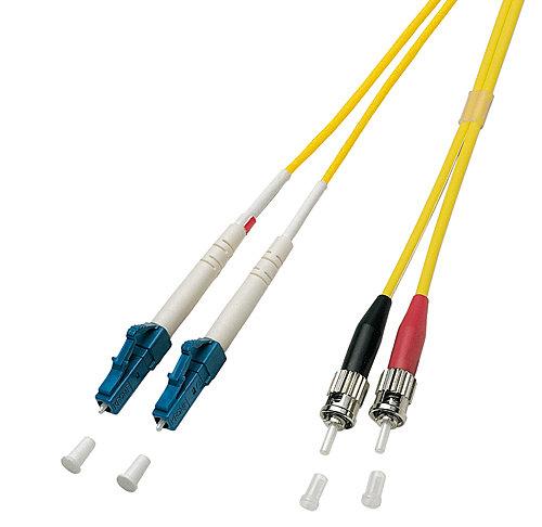 LWL-Duplex Kabel LC / ST 9/125 μm Singlemode, 2m