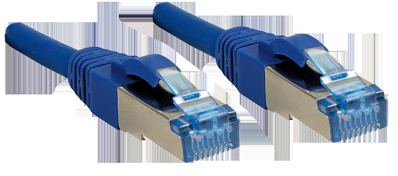 Cat.6A S/FTP PIMF LSOH, blau, 0,3m
