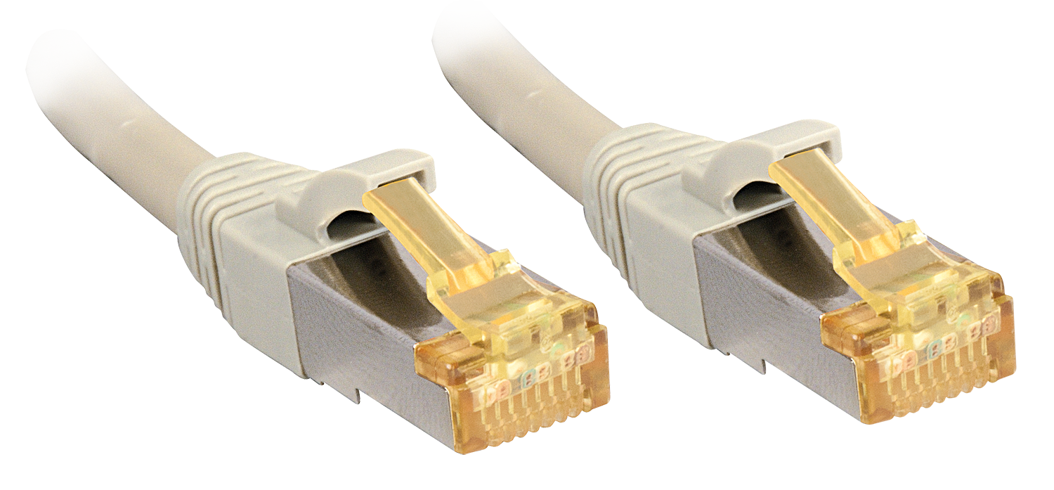 0,3m, RJ45 Patchkabel S/FTP LSOH, mit Cat.7 Rohkabel, grau