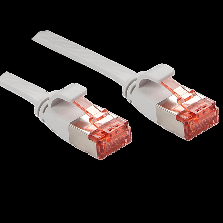 Cat.6 U/FTP Flachband-Patchkabel, grau, 3m