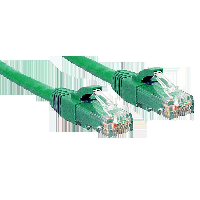 Cat.6 U/UTP Kabel, gr�n, 0,3m