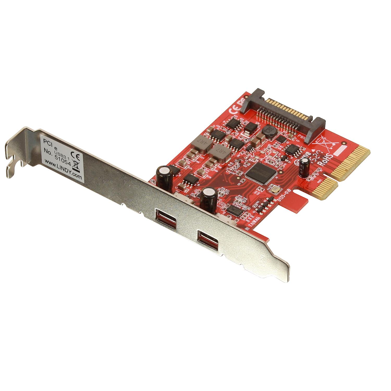 2 Port USB 3.1 Karte, PCIe x4 - (2 x Typ C)