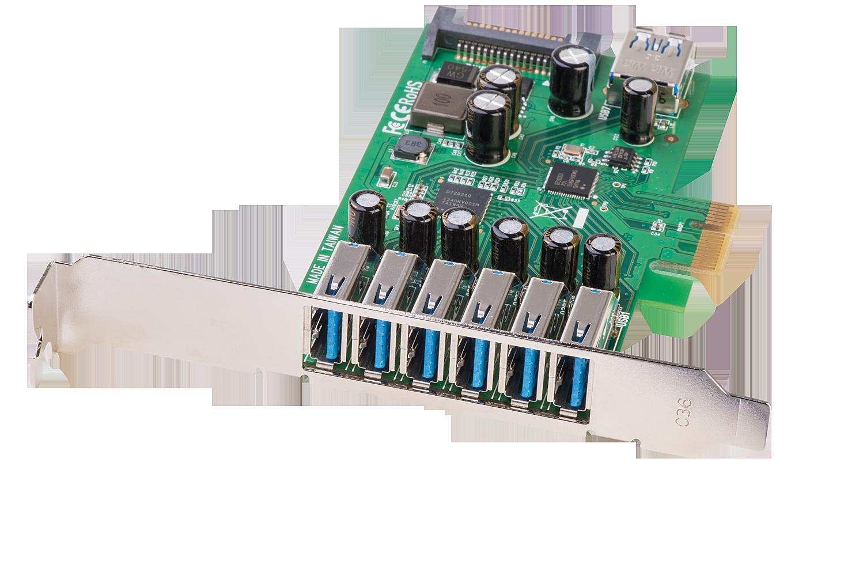 USB 3.0 Karte 6+1  Port, PCIe