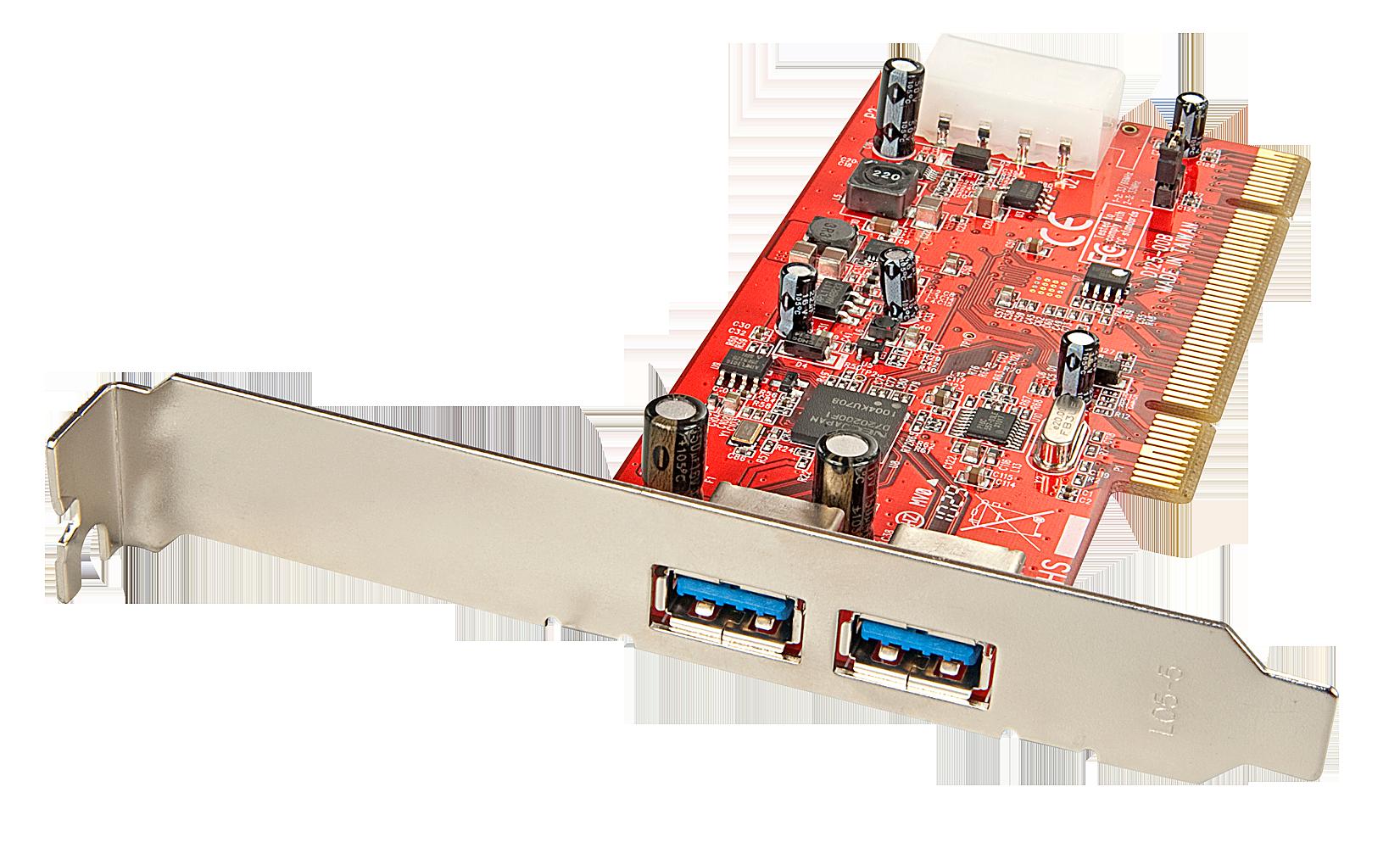 Premium USB 3.0 Karte, 2 Port, PCI