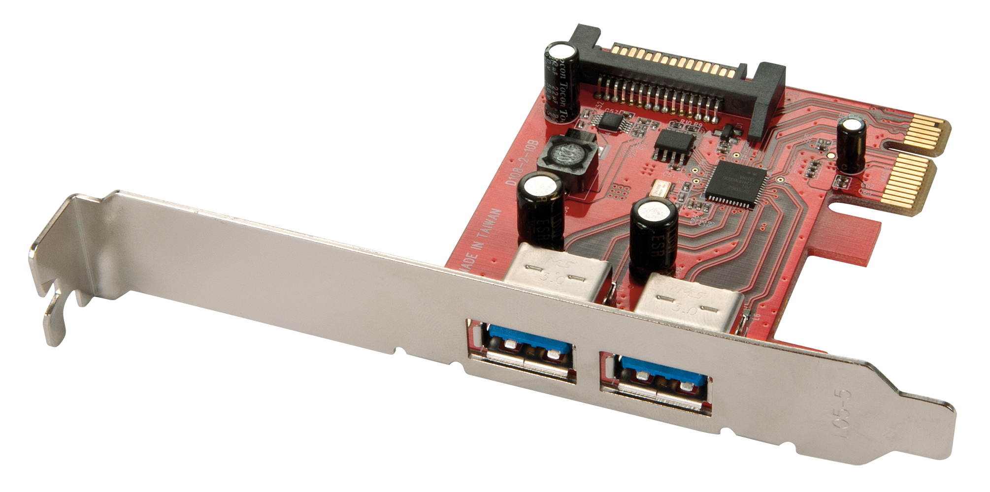 Premium USB 3.0 Karte, 2 Port, PCIe