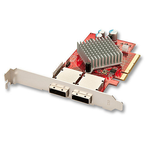 SAS/SATA 6Gb/s Host Adapter, 2 externe Ports, PCIe
