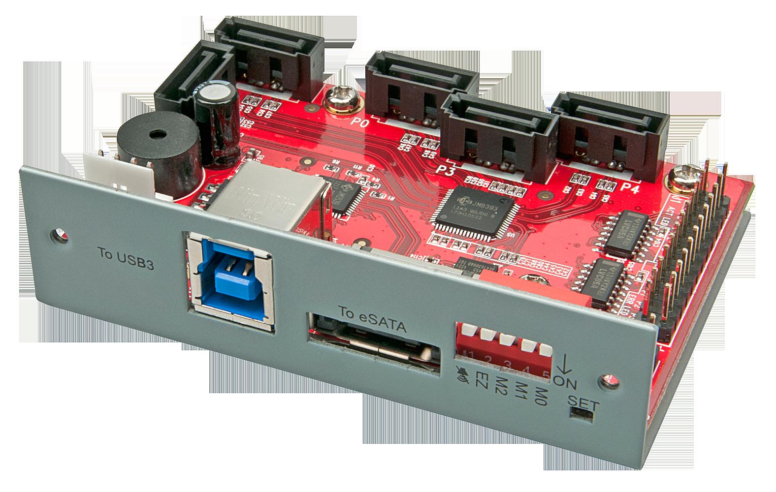 USB 3.0 & eSATA an 5x SATA RAID Adapter f�r externe Laufwerksgeh�use