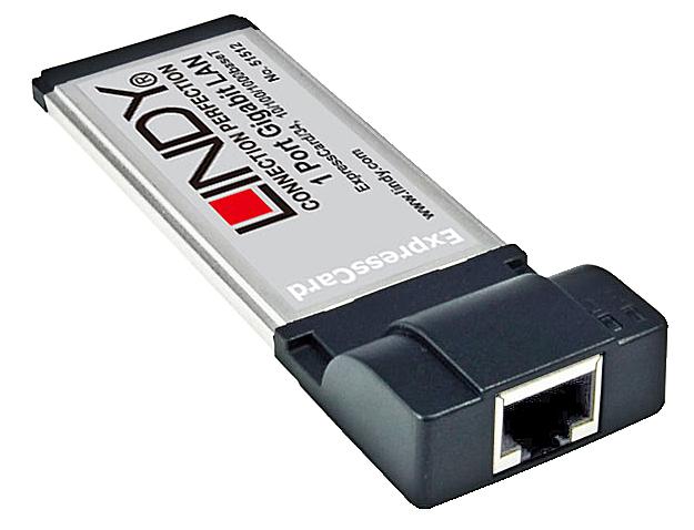 Gigabit LAN ExpressCard, 1 Port