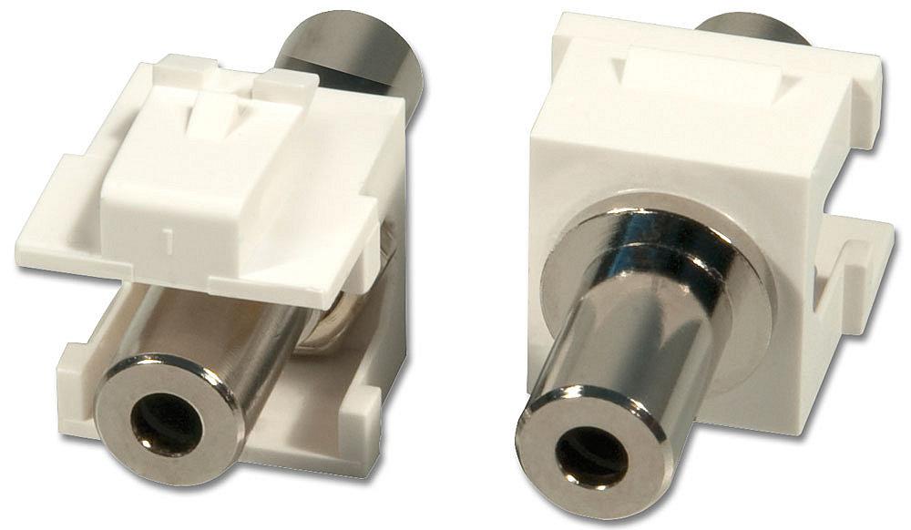 3,5mm Stereo Doppelkupplungs-Keystone für Wanddosen