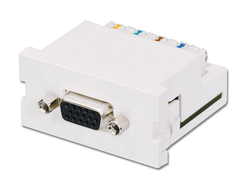 VGA Cat.5 Extender Snap In Module f�r Wanddosen