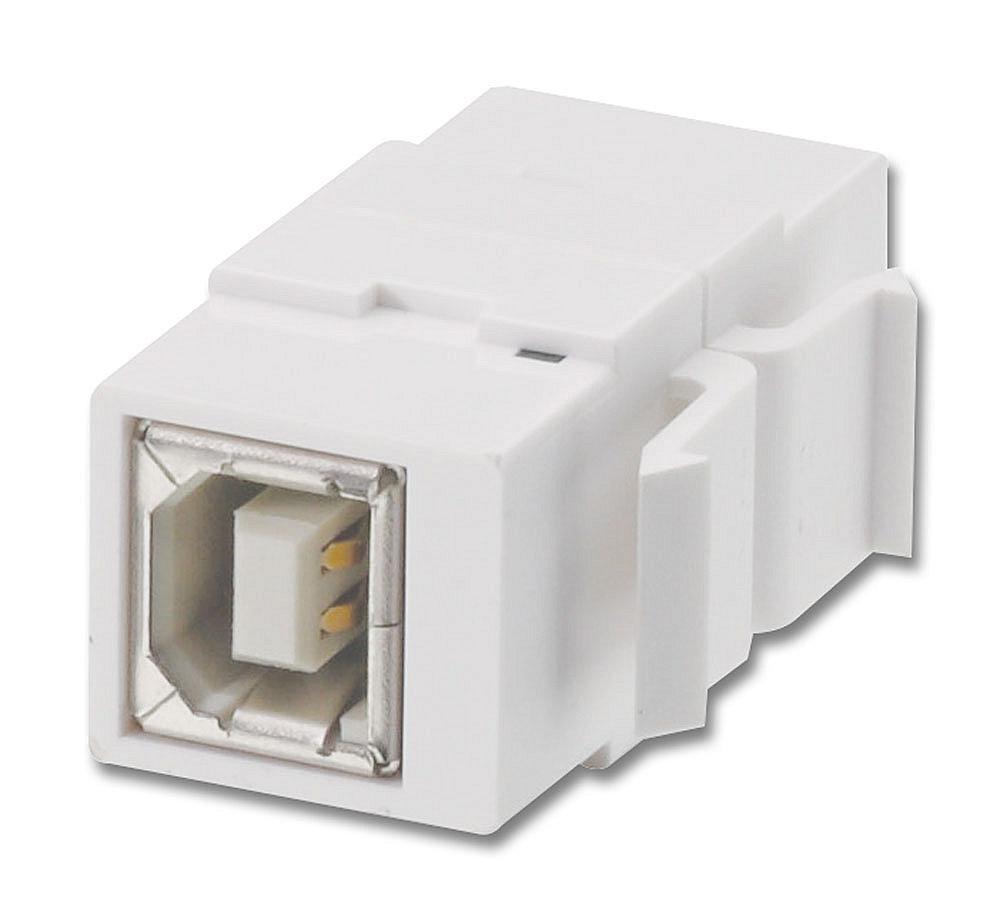 USB Typ B Doppelkupplungs-Keystone für Wanddosen