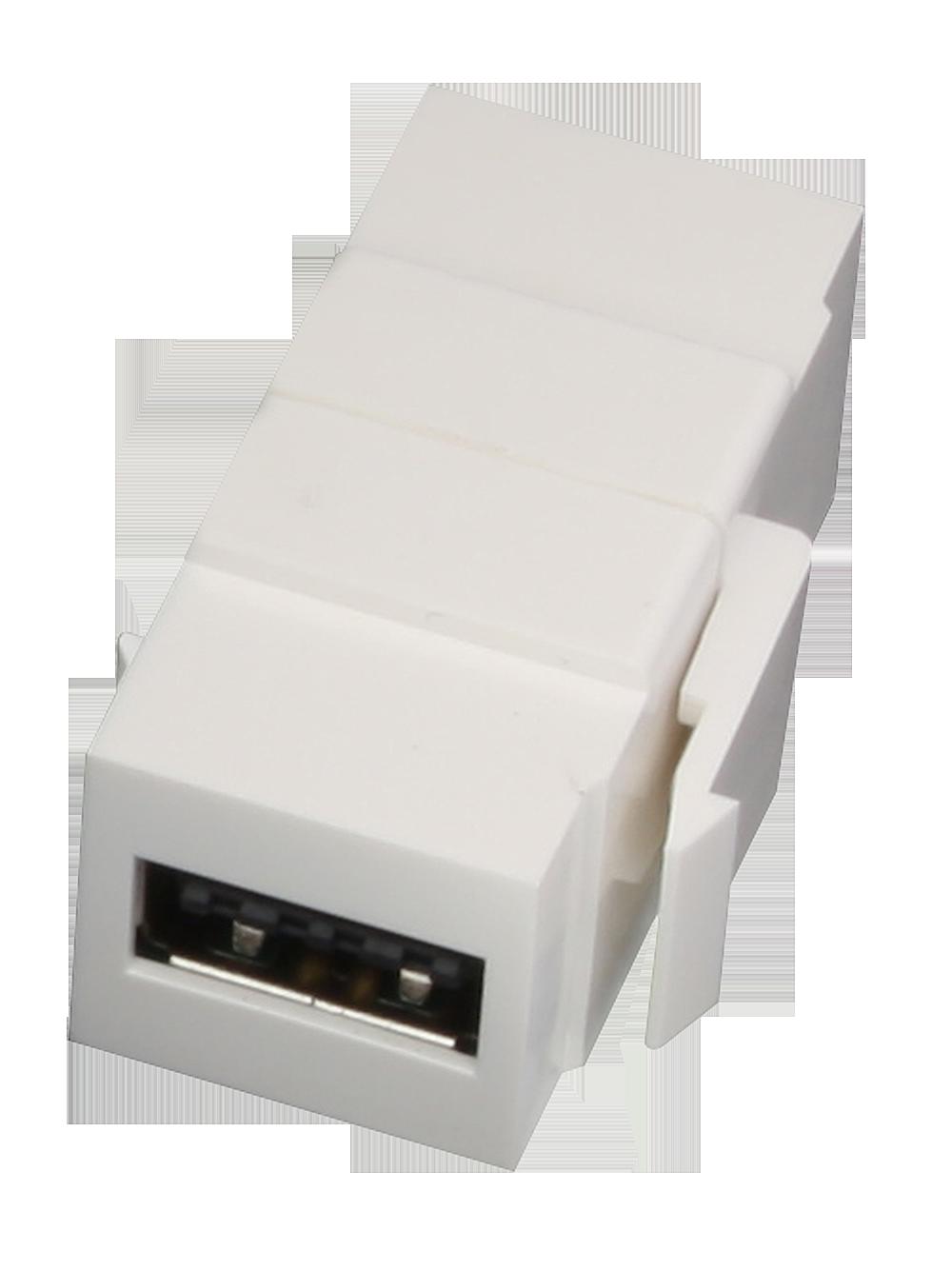 USB A Doppelkupplungs-Keystonef�r Wanddosen \reversible\