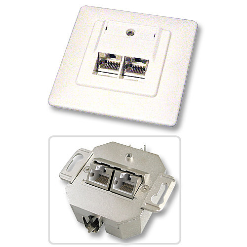 Cat.6 Ethernet Netzwerkdose UP Unterputz