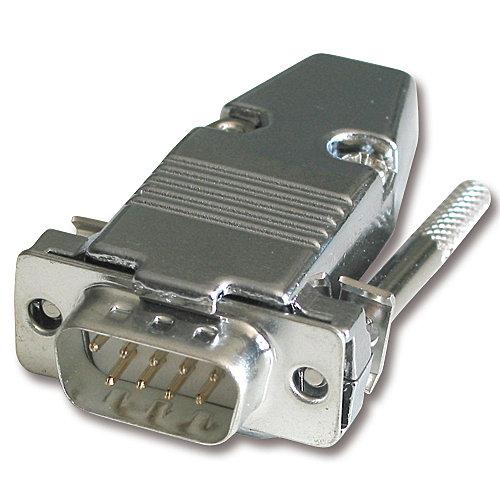 9 pol. Sub-D Metallstecker, 5 Stück