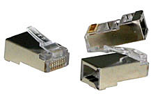 RJ45 Stecker STP, Cat.5e, 10er Pack