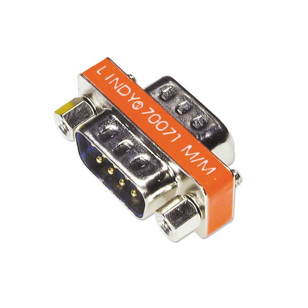 Mini-Adapter 9 pol. Sub-D-Stecker an 9 pol. Sub-D-Stecker