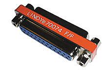 Mini-Adapter 25 pol. Sub-D-Kupplung an 25 pol. Sub-D-Kupplung