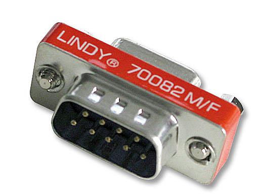 Mini-Adapter 9 pol. Sub-D-Stecker an 9 pol. Sub-D-Kupplung