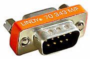 Mini-Adapter 9 pol. Sub-D-Stecker an 15 pol. HD-Kupplung