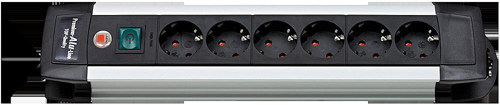 Premium Line Steckdosenleiste 6-fach mit Schalter
