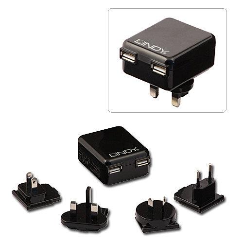 USB Netzteil - Schnellladeadapter \Multi-Country\, 2 Port High Power