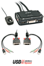 KVM Switch Compact 2 Port