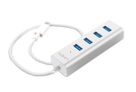 4 Port USB C Notebook Hub