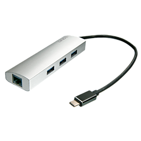USB 3.0 Hub an Gigabit LAN