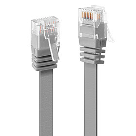 Cat6 Patchkabel flach grau 1m