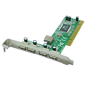 USB 2.0 Karte 4+1Port PCI